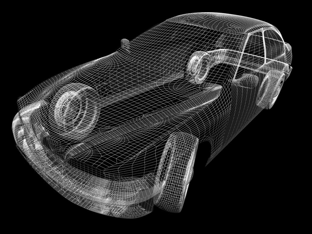 3d car drawing
