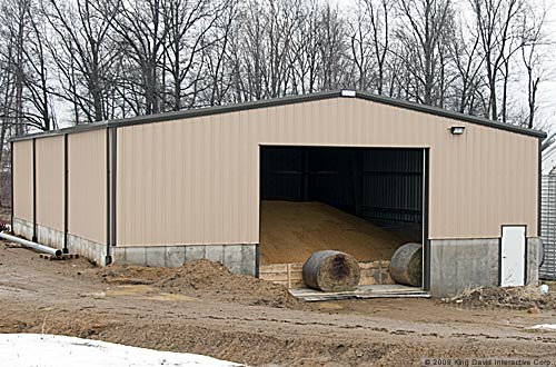Exterior Options For Metal Buildings A post frame garage w cedar