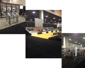 Different tradeshow booths for steel buildings at METALCON 2014