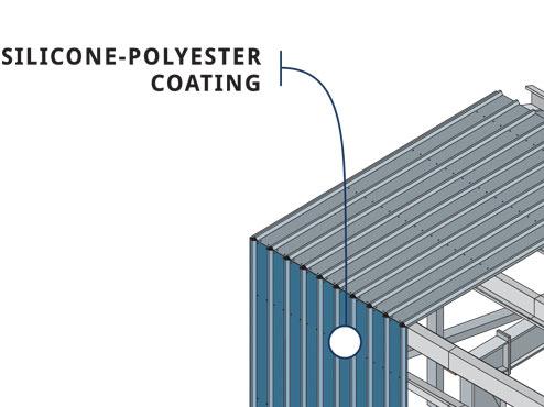 silicone polyester coating