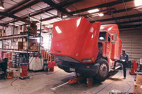 Garage For Service Trucks : Prefab truck garage steel buildings olympia